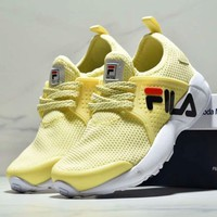 FILA New fashion women sport network shoe Yellow