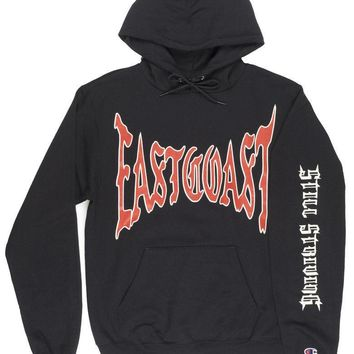 ASAP Ferg x Champion East Coast Sweatshirt Hoodie Mens Black