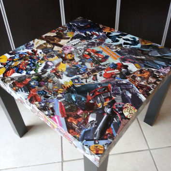 Transformers Comic Collage Table