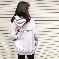Champion x RC Women Fashion Embroidery Hoodie Top Sweater