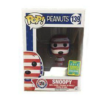 Funko Pop Animation: Peanuts - Snoopy Rock the Vote SDCC Exclusive Vinyl Figure