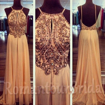 Backless Prom Dress Long Chiffon Prom Gown Sexy Basque Prom Party Dress Ball Gown Evening Dress Evening Gown Holiday Dress Homecoming Dress