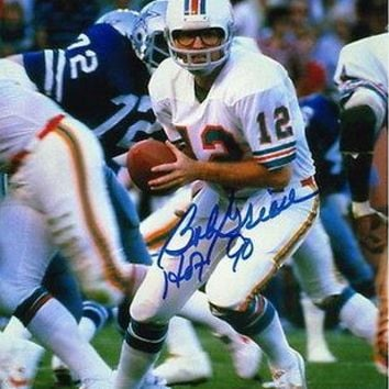"""Autographed Bob Griese Miami Dolphins 8x10 Photo inscribed """"HOF 90"""""""