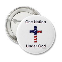 One Nation Under God Button from Zazzle.com