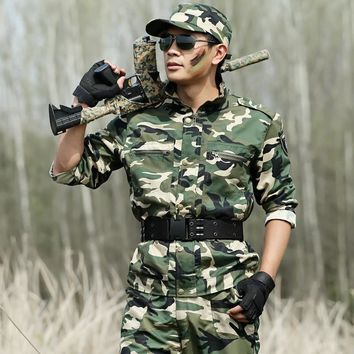Outdoor Sports Camouflage Clothing For Hunting Jacket Men Military Hunting Clothes Combat Outerwear CS Coat Ropa Outdoor Hombre