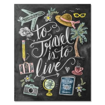 To Travel Is To Live - Print & Canvas