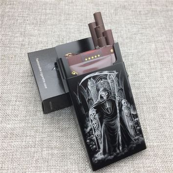 Skulls Aluminium Alloy Fashion Cigarette Case Laser Carved Will Not Fade