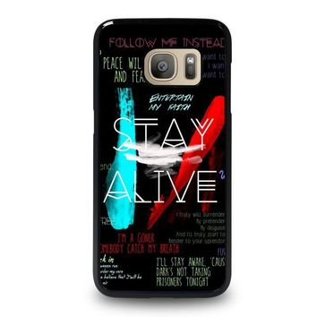 twenty one pilots stay alive samsung galaxy s7 case cover  number 1