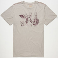Rvca Insecurity Mens T-Shirt Grey  In Sizes