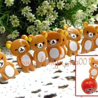 8pc San-X Rilakkuma Relax Bear Food Fruit Picks for Bento / Party Decorate