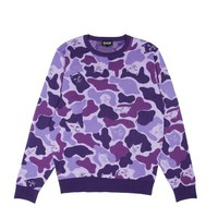 Nermal Camo Sweater (Purple Camo) | RIPNDIP