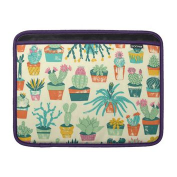 Colorful Cactus Flower Pattern MacBook Air Sleeve
