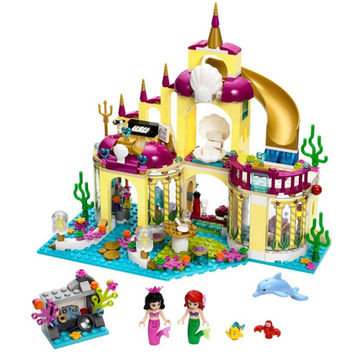 BELA 10436 Princess Undersea Palace Girl Friends Building Blocks 383pcs Bricks Toys For Children Birthday Gift