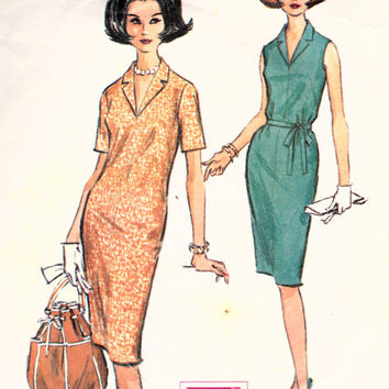 SALE 1960s Misses Pencil Wiggle Dress Mad Men McCall's 7250 Womens Vintage Sewing Pattern Bust 34""