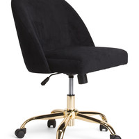 Oval Back Velvet Office Chair - Accent Furniture - T.J.Maxx