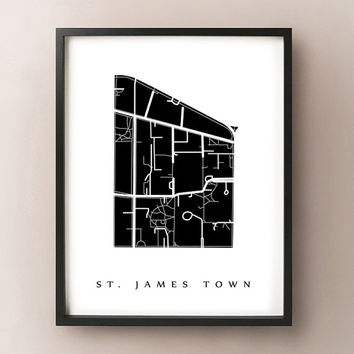 St. James Town Map - Toronto Neighbourhood Art Print