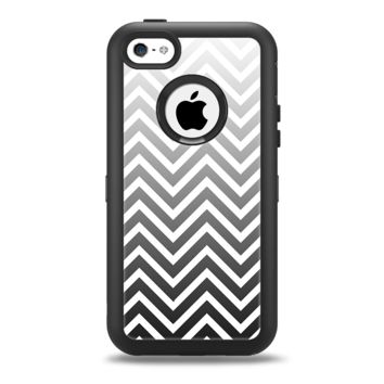 The White & Gradient Sharp Chevron Apple iPhone 5c Otterbox Defender Case Skin Set