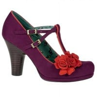 Ruby Shoo Vintage Inspired Uma Plum Shoes