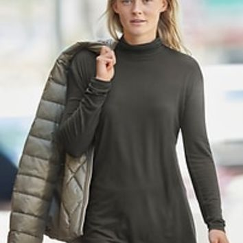 Threadlight Layering T-Neck Long Sleeve | Athleta