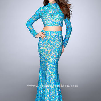 La Femme 24342 Two Piece Prom Dress