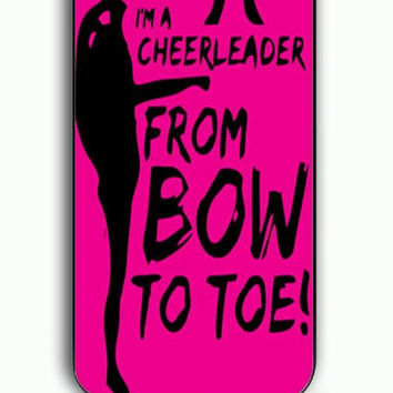 iPhone 5C Case - Hard (PC) Cover with Bow To Toe Cheer Plastic Case Design