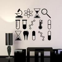Vinyl Wall Decal Science University School Laboratory Chemistry Stickers (ig4245)