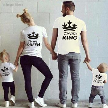 Family Matching T-Shirts. King, Queen, Princess & Prince