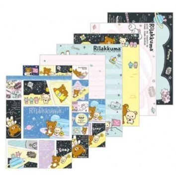 Rilakkuma Space Go to the Future Large Memo Pad 宇宙でだららんテーマ