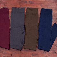 Fleece-Lined Leggings (4 Colors!)