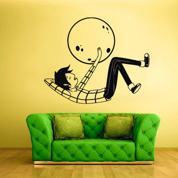 rvz857 Wall Vinyl Sticker Bedroom Decal Words Man Earth