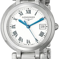 Longines Women's LNG81124716 PrimaLuna Silver Dial Watch