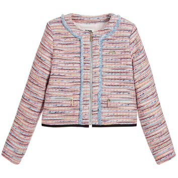 Karl Lagerfeld Girls Colorful Tweed Jacket