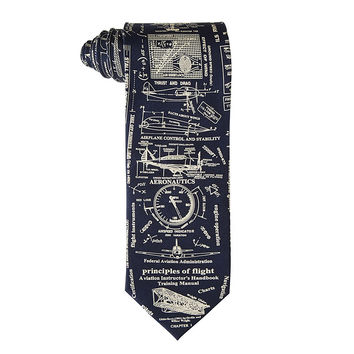 Principles of Flight Tie | airplane tie