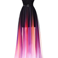 Strapless Prom Dress, Colorful Prom Dresses,Long Evening Dress