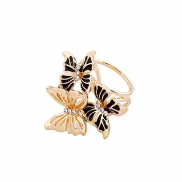 Vintage Three Butterfly Scarf Buckle Brooch