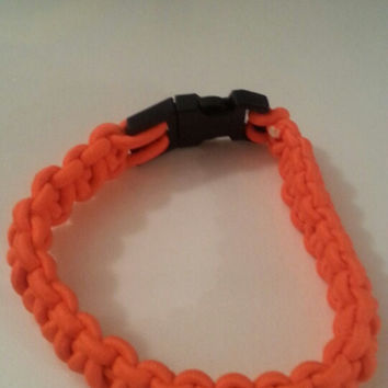 Neon orange paracord parachute cord 550/325 bracelet with survival buckle or regular buckle