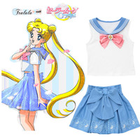 New Lolita Cosplay Sailor Moon Skirts Kawaii Sailor Girl Skirts Sailor Moon 20th Anniversary Skirt Girls School Uniform