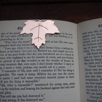 Hand-Sawn Copper Leaf Bookmark