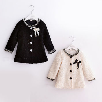 Cute autumn spring children clothing baby girl outerwear coat girl's jackets cotton