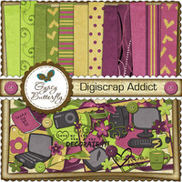 Digital Scrapbooking kit - Digiscrap Addict - clipart and digital papers