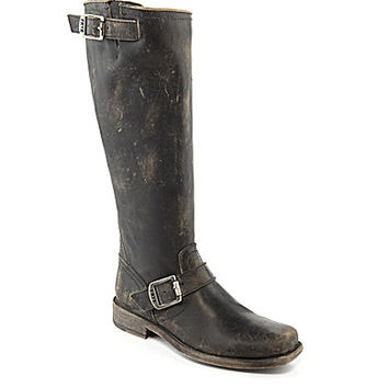 Frye Smith Engineer Tall Boots - Black