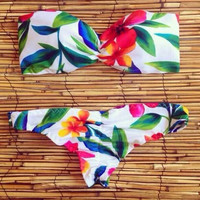 Womens Leaf Bikini Set Swimsuit Summer Gift 141