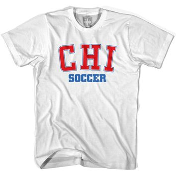 Chile CHI Soccer Country Code T-shirt-Adult