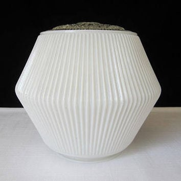 Shop ceiling light covers on wanelo retro 7 ceiling light cover ribbed white and clear with 4 fitt mozeypictures Choice Image