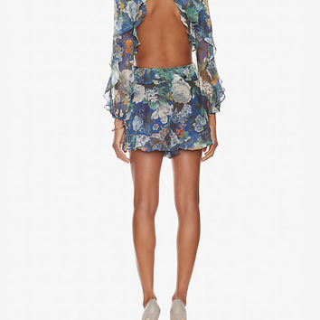 Zimmermann Long Sleeve Cutout Floral Romper | Shop IntermixOnline.com
