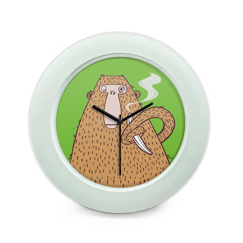 High Monkey Table Clock