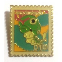Pokemon 1998 Part 1 Masara Caterpie Metal Stamp Pin Badge