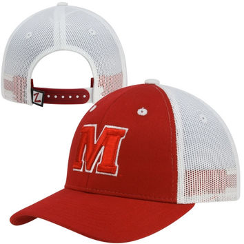 Zephyr Maryland Terrapins Soft Trucker Mesh Hat - Red/White
