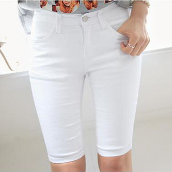 White City Shorts With Pocket
