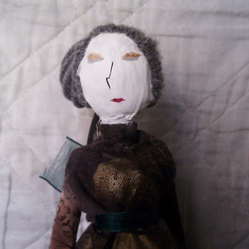 Victoria - OOAK Mixed Media Art Doll Made from Recycled Material
